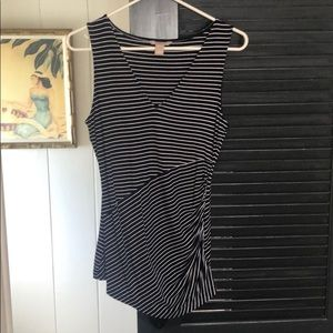 Banana Republic navy and white striped tank